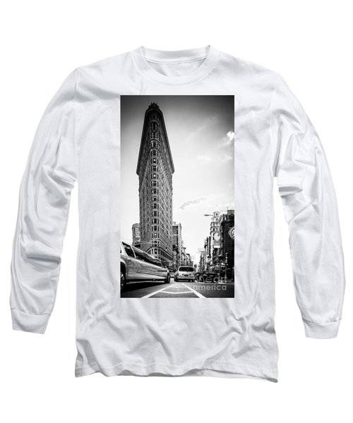 Big In The Big Apple - Bw Long Sleeve T-Shirt by Hannes Cmarits