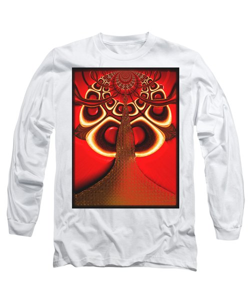 Big Tree From The Red Forest Long Sleeve T-Shirt by Wendy J St Christopher