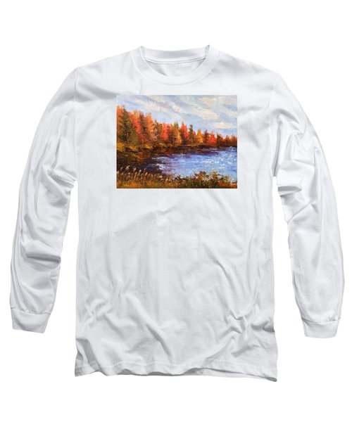 Birchwood Lake Long Sleeve T-Shirt by Jason Williamson