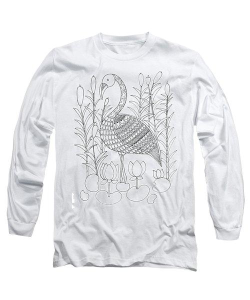 Bird Flamingo Long Sleeve T-Shirt