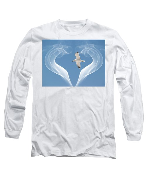 Bird In Flight Long Sleeve T-Shirt by Athala Carole Bruckner