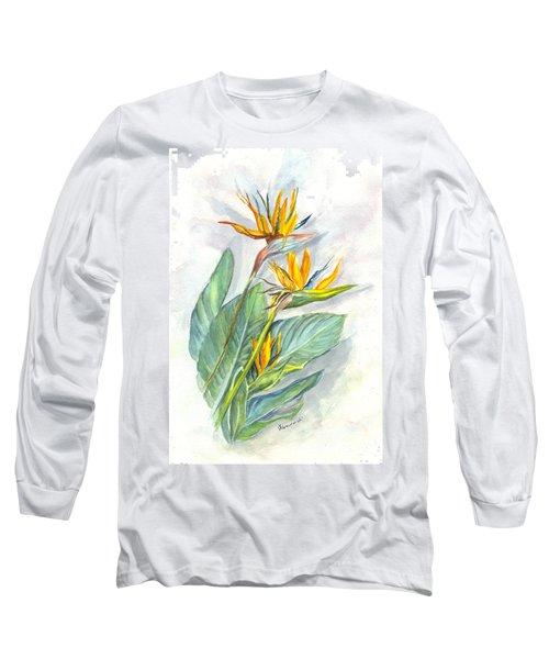 Bird Of Paradise Long Sleeve T-Shirt by Carol Wisniewski