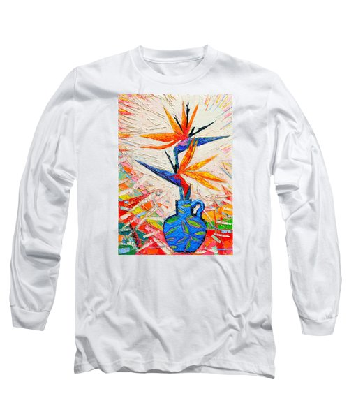 Bird Of Paradise Flowers Long Sleeve T-Shirt