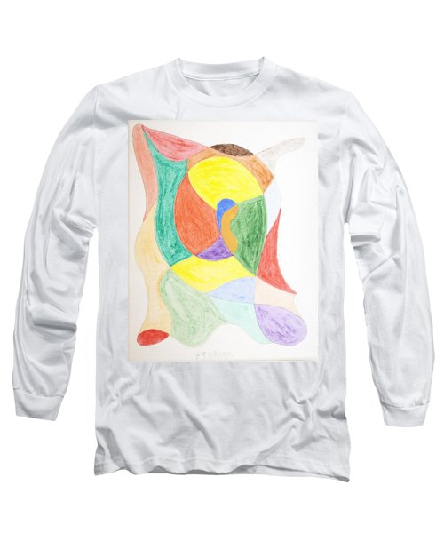 Long Sleeve T-Shirt featuring the painting Duck by Stormm Bradshaw