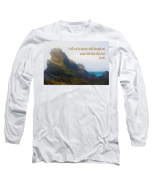 Bird Rock Gandhi Quote Long Sleeve T-Shirt