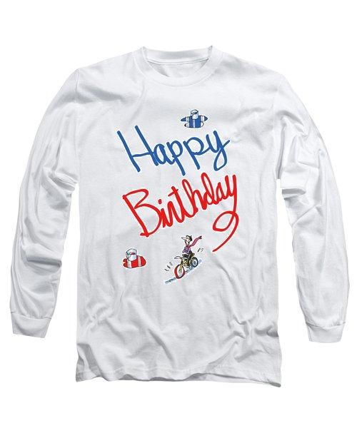 Birthday Bicycle Painter Long Sleeve T-Shirt