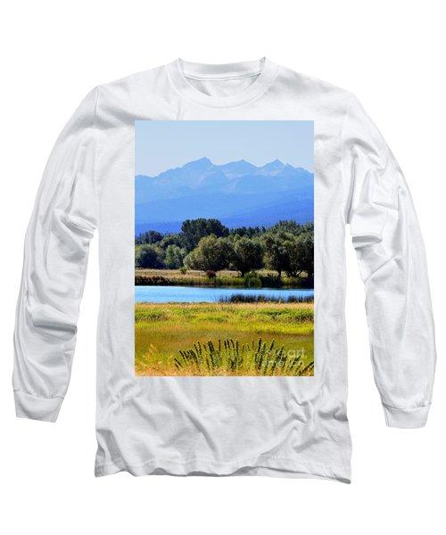 Long Sleeve T-Shirt featuring the photograph Bitterroot Valley Montana by Joseph J Stevens