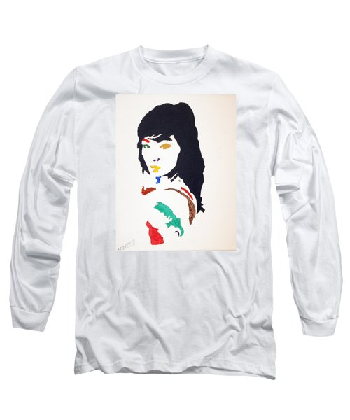 Long Sleeve T-Shirt featuring the painting Bjork by Stormm Bradshaw