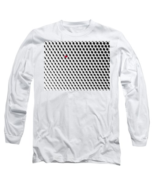 Black And White Cubes With One Red Cube. Long Sleeve T-Shirt