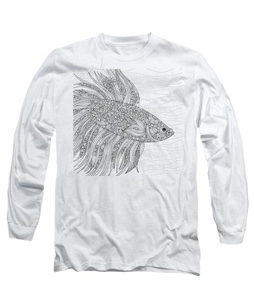 Black And White Fish Long Sleeve T-Shirt
