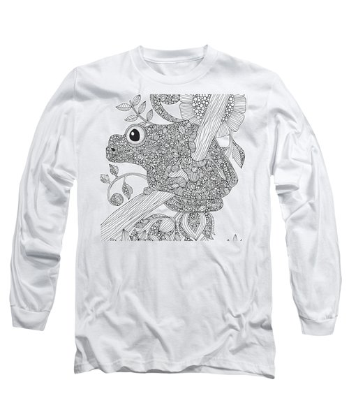 Black And White Frog Long Sleeve T-Shirt