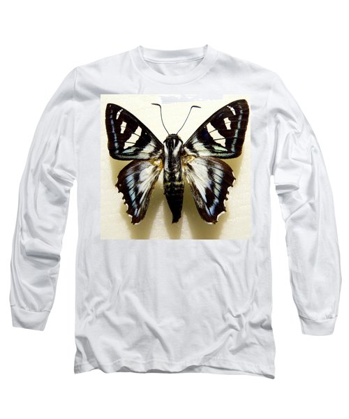 Long Sleeve T-Shirt featuring the photograph Black And White Moth by Rosalie Scanlon