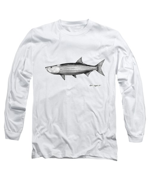 Black And White Tarpon Long Sleeve T-Shirt by Steve Ozment