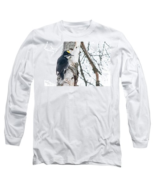 Black-backed Woodpecker Long Sleeve T-Shirt