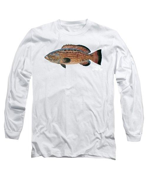 Black Grouper Long Sleeve T-Shirt