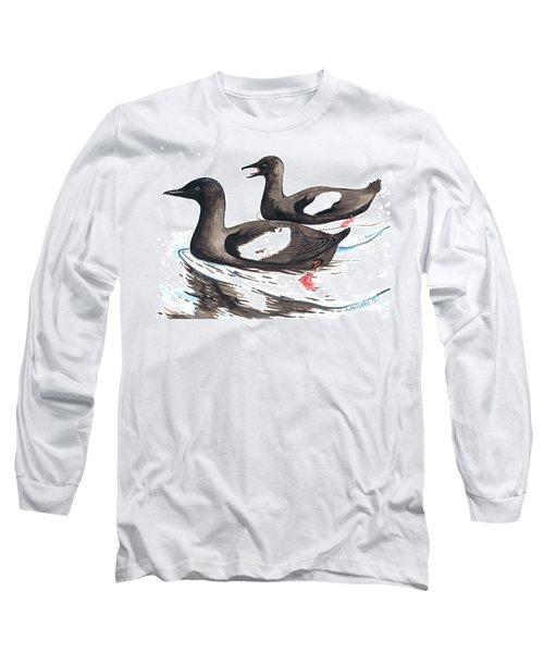 Black Guillemot Long Sleeve T-Shirt