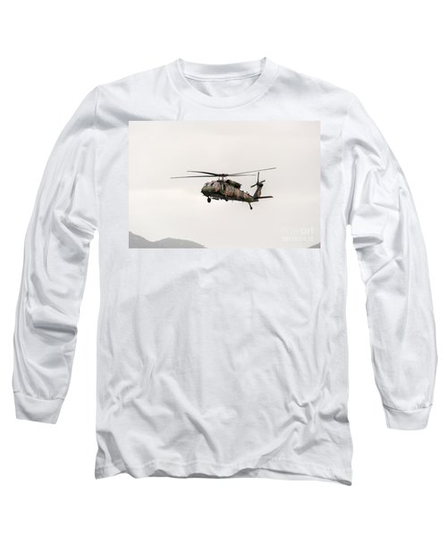 Black Hawk  Long Sleeve T-Shirt by Ray Warren