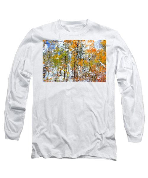Black Hills Veil  Long Sleeve T-Shirt by Clarice  Lakota