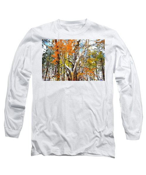 Black Hills Entanglement Long Sleeve T-Shirt by Clarice  Lakota