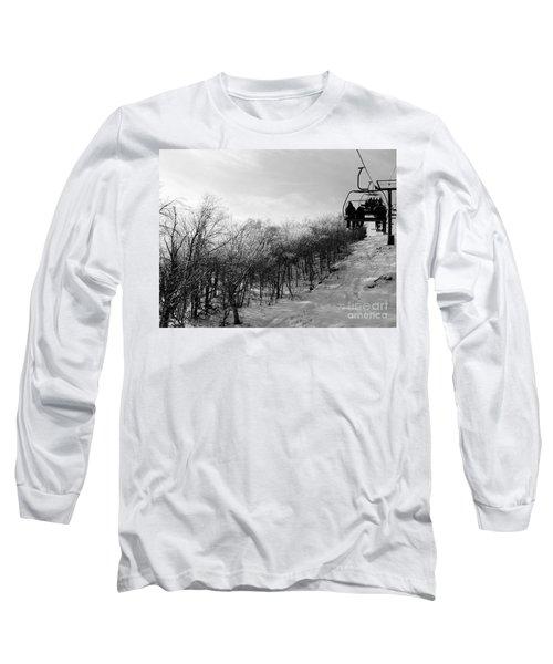 Black Ice Long Sleeve T-Shirt by Barbara Bardzik