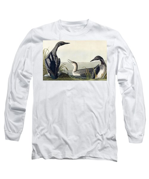 Black Throated Diver  Long Sleeve T-Shirt