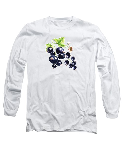 Blackcurrant Berries  Long Sleeve T-Shirt by Irina Sztukowski