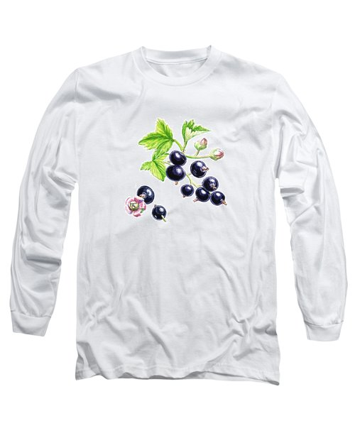 Blackcurrant Botanical Study Long Sleeve T-Shirt by Irina Sztukowski