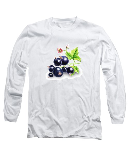 Blackcurrant Still Life Long Sleeve T-Shirt by Irina Sztukowski