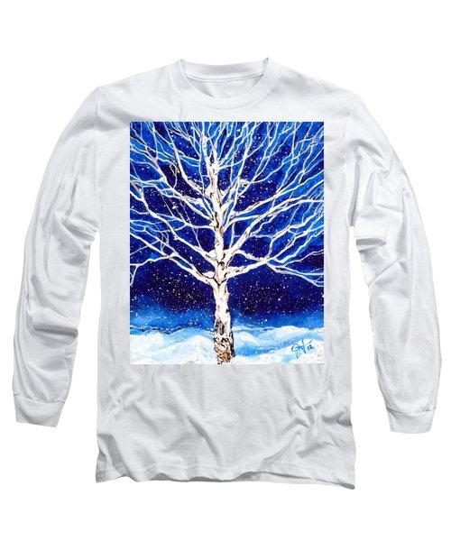 Blanket Of Stillness Long Sleeve T-Shirt by Jackie Carpenter