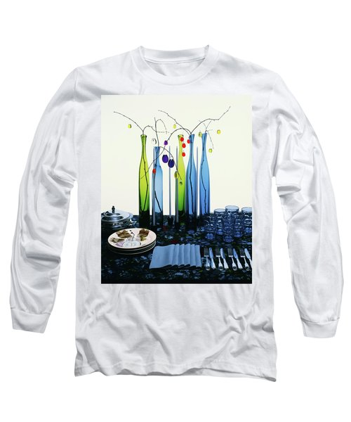 Blenko Glass Bottles Long Sleeve T-Shirt