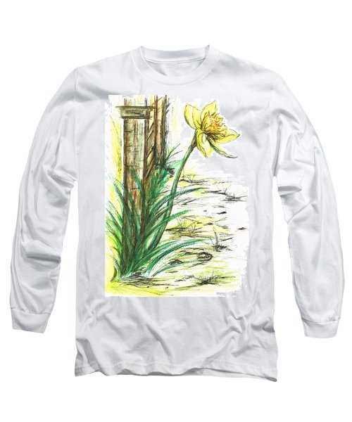 Blooming Daffodil Long Sleeve T-Shirt