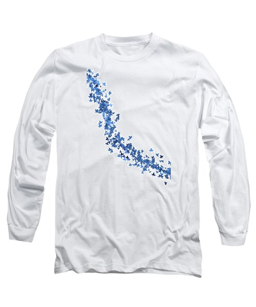 Blowing Winter Leaves Long Sleeve T-Shirt