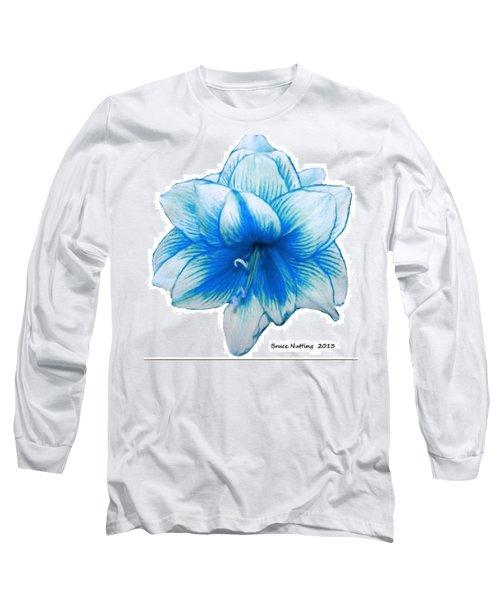 Blue Amaryllis Long Sleeve T-Shirt