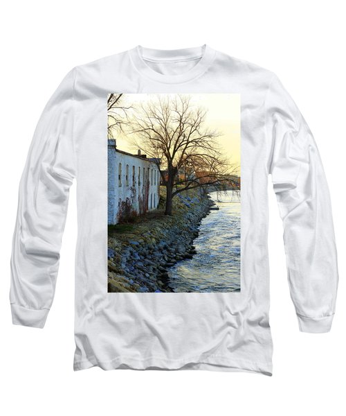 Blue And Yellow Morning Long Sleeve T-Shirt