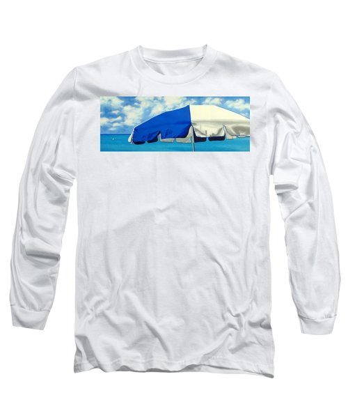 Blue Beach Umbrellas 1 Long Sleeve T-Shirt
