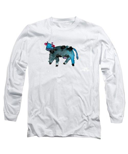 Blue Cow Long Sleeve T-Shirt