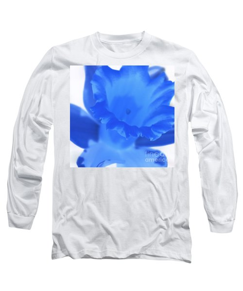 Long Sleeve T-Shirt featuring the photograph Blue Daffodil by Andy Prendy