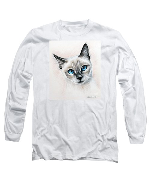 Blue Eyes Long Sleeve T-Shirt by Lena Auxier