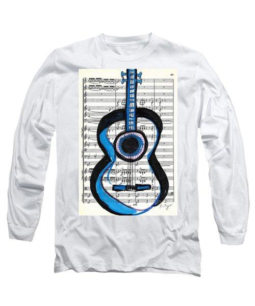 Blue Guitar Music Long Sleeve T-Shirt