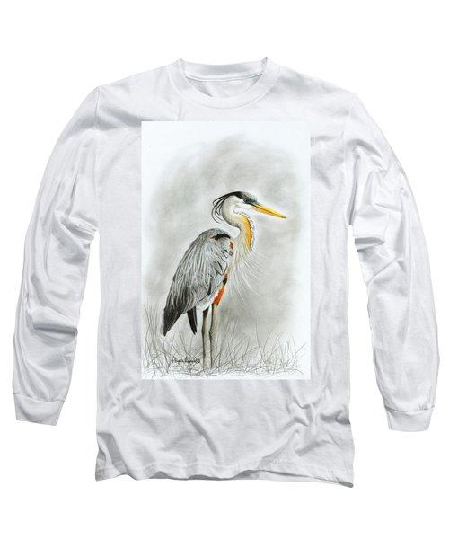 Blue Heron 3 Long Sleeve T-Shirt