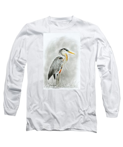 Blue Heron 3 Long Sleeve T-Shirt
