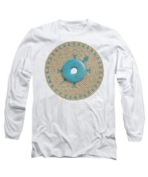 Blue Howlite Long Sleeve T-Shirt