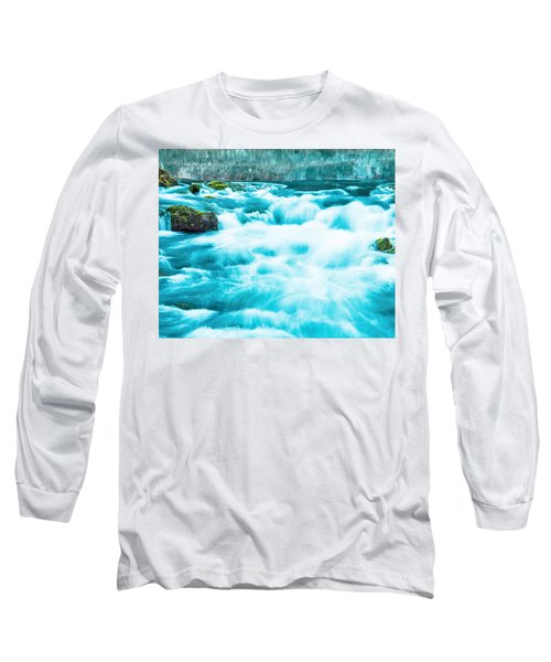 Long Sleeve T-Shirt featuring the photograph Blue Lagoon by Steven Bateson