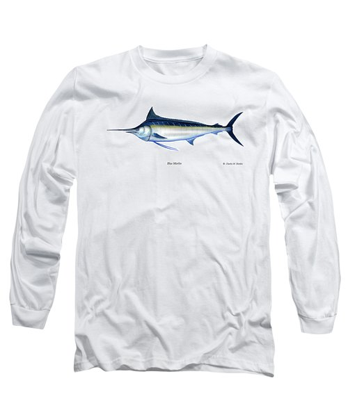 Blue Marlin Long Sleeve T-Shirt by Charles Harden