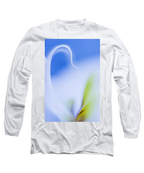Blue Orchid Abstract Long Sleeve T-Shirt by Bradley R Youngberg