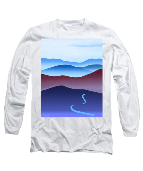 Blue Ridge Blue Road Long Sleeve T-Shirt by Catherine Twomey