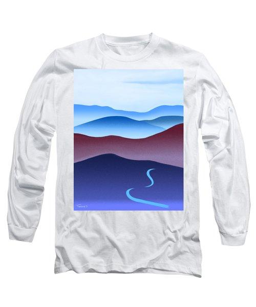 Blue Ridge Blue Road Long Sleeve T-Shirt