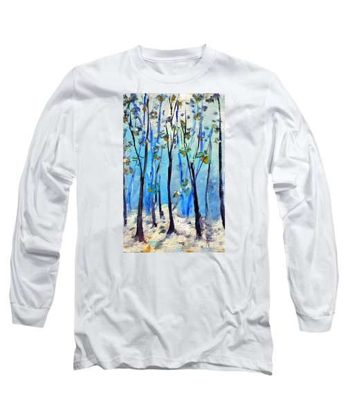 Blue Thoughts In Winter Long Sleeve T-Shirt