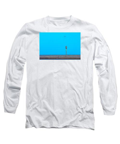 Long Sleeve T-Shirt featuring the photograph Blue Wall Parking by Darryl Dalton