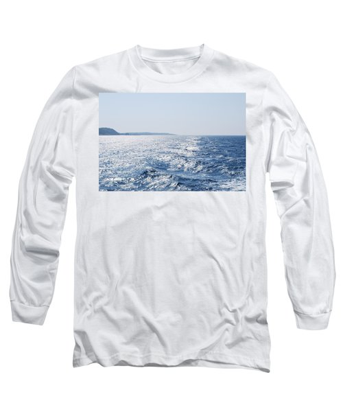 Long Sleeve T-Shirt featuring the photograph Blue Waters by George Katechis